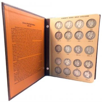 1892-1915 73-Coin Complete Set of Barber Silver Half Dollars - Avg. Circ.