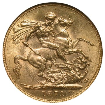 British Gold Sovereign Coin - Random Date - AU/BU