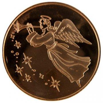 1 oz Copper Round - Christmas Series - Angel Design