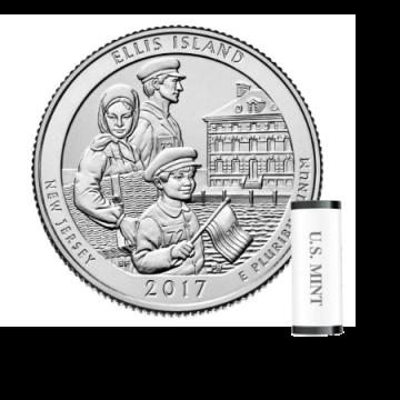 2017 Ellis Island S Mint Quarter Roll