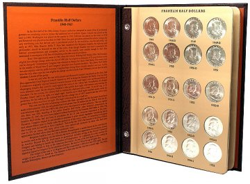 1948-1963 35-Coin Complete Set of Franklin Silver Half Dollars - BU