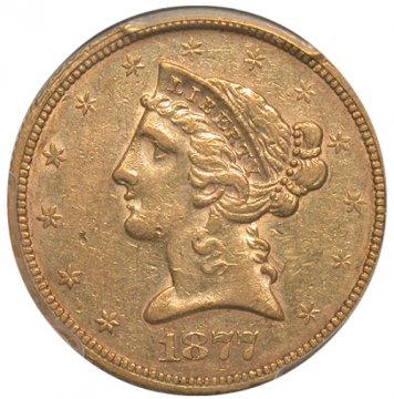 $5.00 Liberty Head Half Eagle Gold Coins - Random Dates - XF/AU