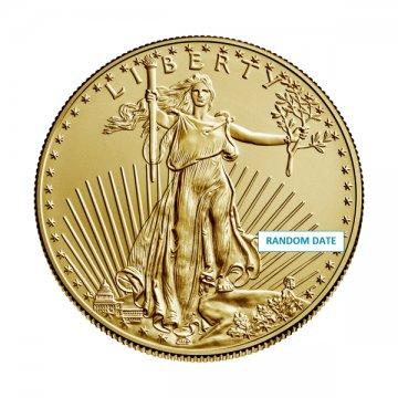 1/2 oz American Gold Eagle Coin - Random Date - Gem BU