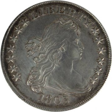 1803 Draped Bust Silver Dollar Coin - Large 3 - About Uncirculated Details