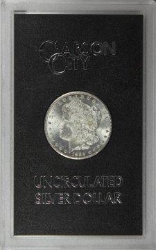 1884-CC Morgan Silver Dollar Coin - in GSA Holder - BU
