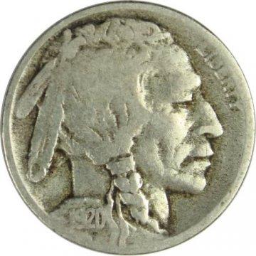 1920-D Buffalo Nickel Coin - Very Good
