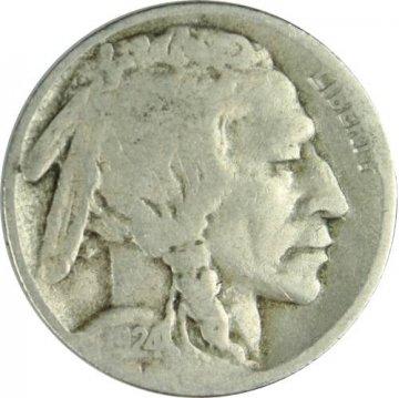1924-S Buffalo Nickel Coin - Very Good