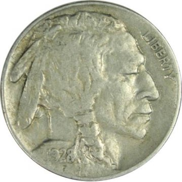1928-S Buffalo Nickel Coin - Extremely Fine