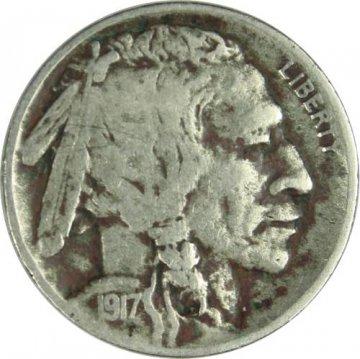 1917-D Buffalo Nickel Coin - Fine