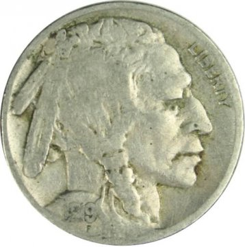 1919 Buffalo Nickel Coin - Fine