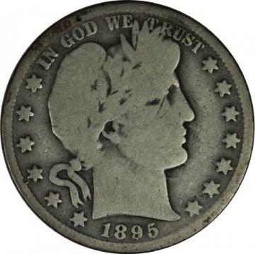 1895-O Barber Silver Half Dollar Coin - Good / About Good