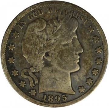 1895-S Barber Silver Half Dollar Coin - Fine