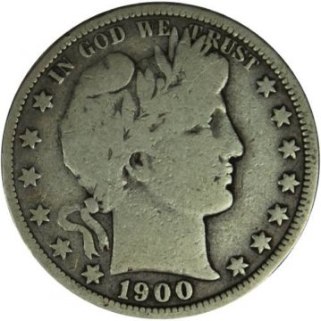 1900-O Barber Silver Half Dollar Coin - Very Good