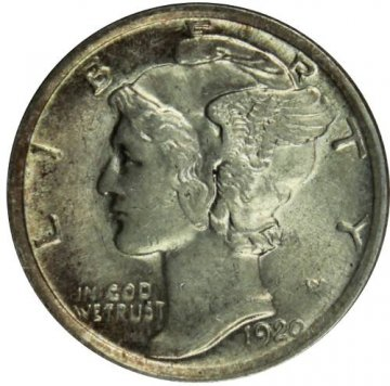 1920 Mercury Silver Dime Coin - Uncirculated