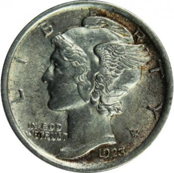1923 Mercury Silver Dime Coin - Uncirculated