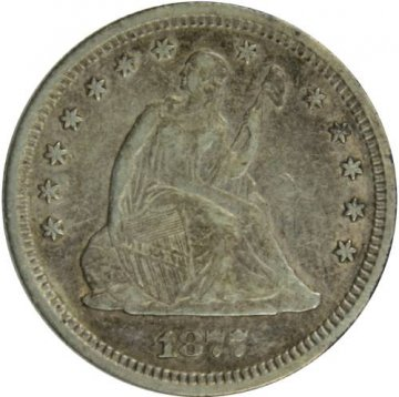 1877-S Seated Liberty Silver Quarter Coin - About Uncirculated