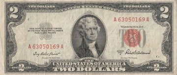 1953 $2.00 U.S. Note - Red Seal - Fine / Very Fine
