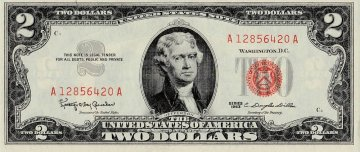1963 $2.00 U.S. Note - Red Seal - Crisp Uncirculated