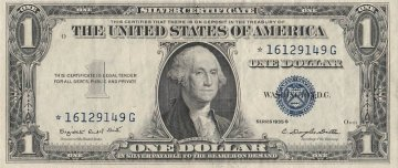 1935 $1.00 Silver Certificate - Star Note - Extremely Fine