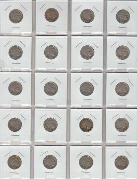 Buffalo Nickel 20-Coin Pocket Lot - Mixed Dates and Grades