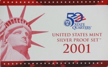 2001 U.S. Silver Proof Coin Set