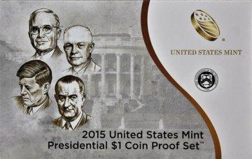 2015 U.S. Presidential Dollar Proof Coin Set