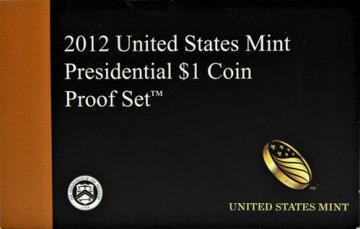 2012 U.S. Presidential Dollar Proof Coin Set