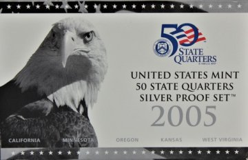 2005 U.S. State Quarter Silver Proof Coin Set