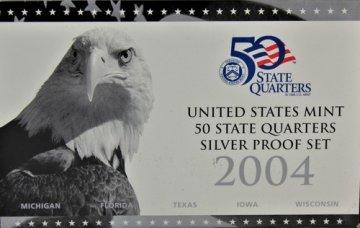 2004 U.S. State Quarter Silver Proof Coin Set