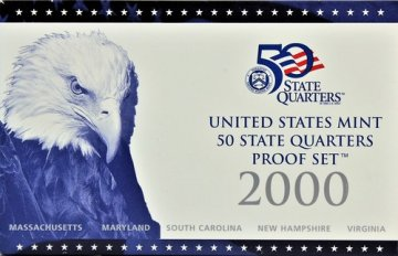 2000 U.S. State Quarter Proof Coin Set - Wholesale Price!