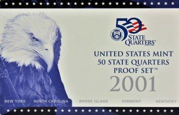 2001 U.S. State Quarter Proof Coin Set - Wholesale Price!