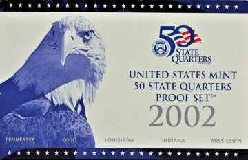 2002 U.S. State Quarter Proof Coin Set - Wholesale Price!