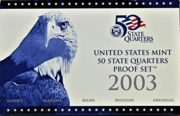 2003 U.S. State Quarter Proof Coin Set - Wholesale Price!