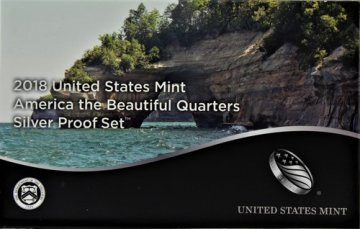 2018 America the Beautiful Silver Quarters Proof Coin Set