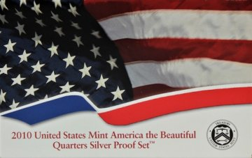2010 America the Beautiful Silver Quarters Proof Coin Set