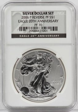 2006 3-Coin American Silver Eagle 20th Anniversary Set - NGC MS/PF-70