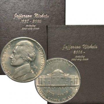 1965-2018 163-Coin Jefferson Nickel Coin Set - BU - w/ Proofs
