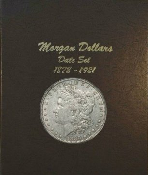 1878-1921 32-Coin Set of Morgan Silver Dollars - XF/AU