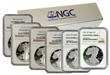 1986-2019 33-Coin 1 oz American Proof Silver Eagle Set - NGC PF-69 Ultra Cameo