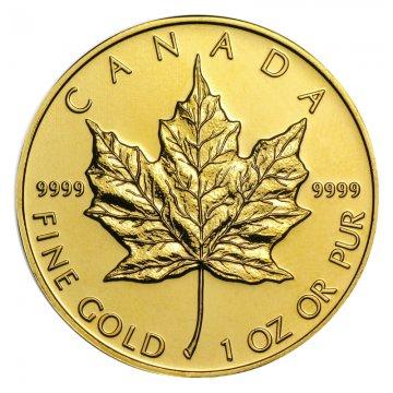 1 oz Canadian Gold Maple Leaf Coin - Random Date - BU