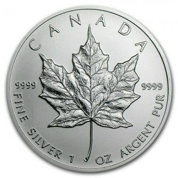 1 oz Canadian Silver Maple Leaf Coin - Random Date - Gem BU