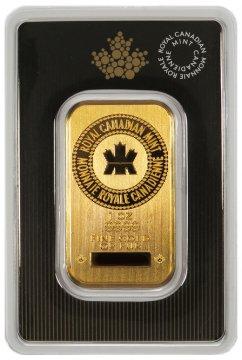 Royal Canadian Mint 1 oz Gold Bar - (in Assay)
