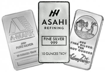 10 oz Silver Bar - Varied Condition and Design