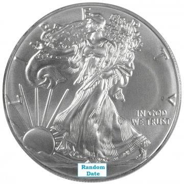 1 oz American Silver Eagle Coin - Gem Uncirculated - Random Date