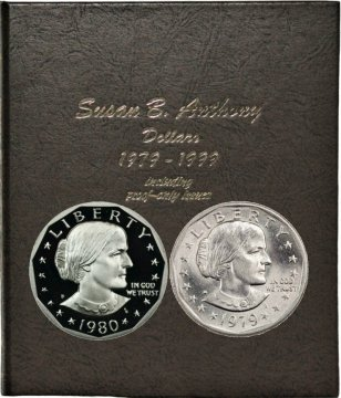 1979-1999 18-Coin Complete Set of Susan B. Anthony Dollars - BU - w/ Type 2 Coins