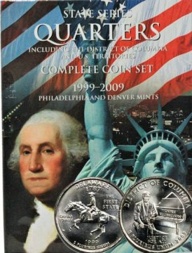 1999-2009 112-Coin Set of U.S. State, Territorial and Washington D.C. Quarters - BU