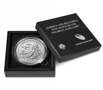 2021-P 5 oz Burnished Tuskegee Airmen National Historic Site ATB Silver Coin (w/ Box & COA)