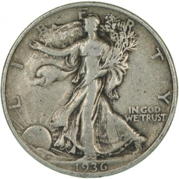 1916-1947 20-Coin 90% Silver Walking Liberty Half Dollar Roll - Avg. Circ.