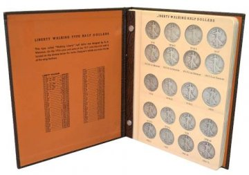 1916-1947 65-Coin Complete Set of Walking Liberty Silver Half Dollars - G-VF