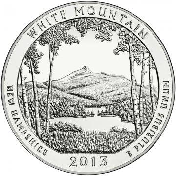 2013 5 oz ATB White Mountain Silver Coin - Gem BU (In Capsule)